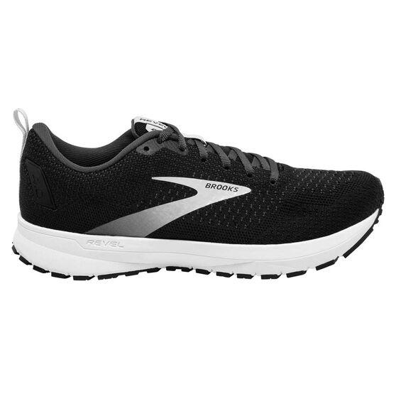 Brooks Revel 4 Mens Running Shoes, Black/Silver, rebel_hi-res