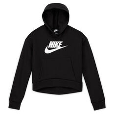 Nike Girls VF NSW Club Fleece Hoodie Black XS, Black, rebel_hi-res