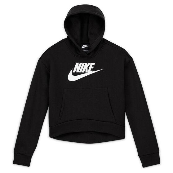 Nike Girls VF NSW Club Fleece Hoodie, Black, rebel_hi-res