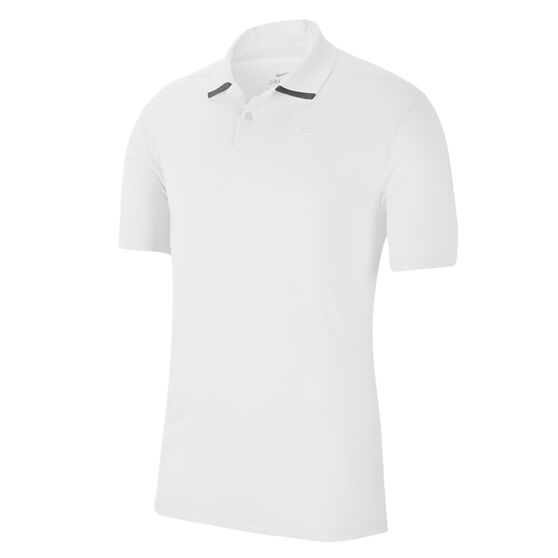 Nike Mens Dri-FIT Vapor Golf Polo, White, rebel_hi-res