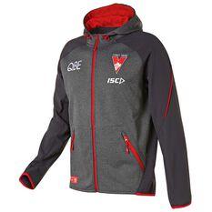 Sydney Swans 2019 Mens Tech Pro Hoodie Grey / Red S, Grey / Red, rebel_hi-res
