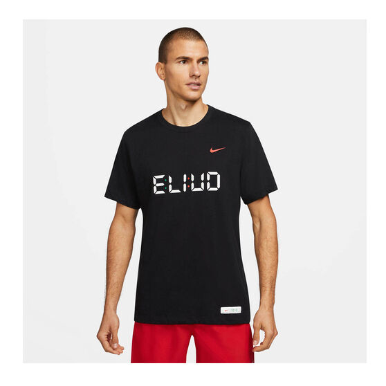 Nike Mens Eluid Dri-FIT Running Tee, Black, rebel_hi-res
