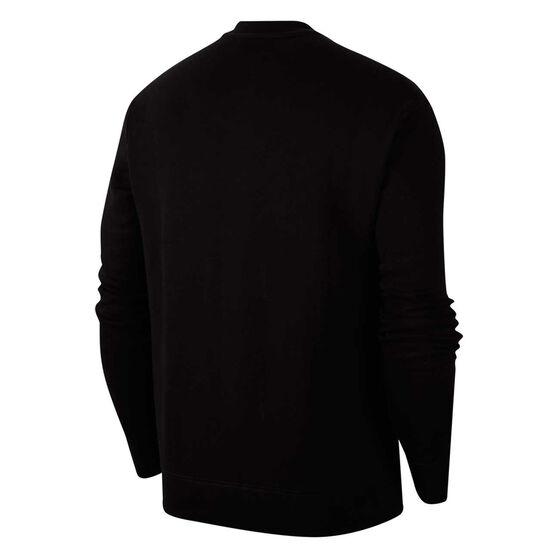 Nike Mens Sportswear Just Do It Fleece Sweatshirt, Black, rebel_hi-res