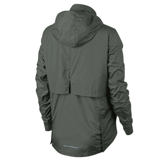 Nike Womens Essential Packable Running Jacket, Green, rebel_hi-res