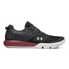 Under Armour Charged Ultimate 3.0 Mens Training Shoes Grey / Red US 7, Grey / Red, rebel_hi-res