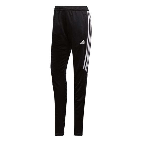 adidas Womens Tiro 17 Training Pants Black / White XXL, , rebel_hi-res