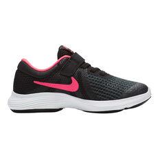 Nike Revolution 4 Junior Girls Running Shoes Black / Gold US 11, , rebel_hi-res