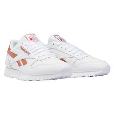 Reebok Classic Leather Casual Shoes White/Brown US 7, White/Brown, rebel_hi-res