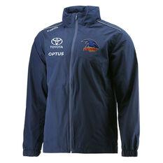 Adelaide Crows 2021 Mens Wet Weather Jacket Blue S, Blue, rebel_hi-res