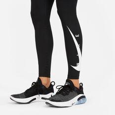 Nike Womens Swoosh Run Tights Black XS, Black, rebel_hi-res