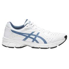 Asics Gel 195TR 2E Mens Training Shoes White / Blue US 7, White / Blue, rebel_hi-res