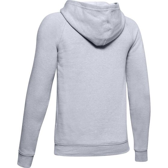 Under Armour Boys Rival Logo Hoodie, Grey / White, rebel_hi-res