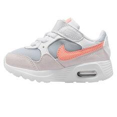Nike Air Max SC Toddlers Shoes White/Peach US 4, White/Peach, rebel_hi-res