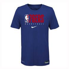 Nike Philadelphia 76ers 2019/20 Kids Practice Tee Blue S, Blue, rebel_hi-res