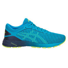 Asics Dynaflyte 2 Mens Running Shoes Blue / Yellow US 7, Blue / Yellow, rebel_hi-res