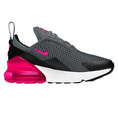 Nike Air Max 270 Kids Casual Shoes Black/Red US 11, Black/Red, rebel_hi-res