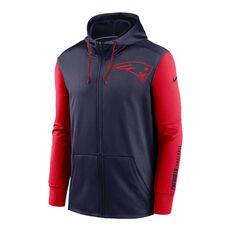 Nike New England Patriots 2020 Mens Therma Full Zip Hoodie, , rebel_hi-res