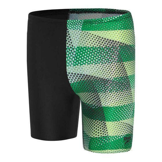 Speedo Boys Leisure Prismz Waterboy Swim Shorts, Black, rebel_hi-res