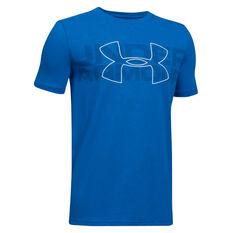Under Armour Boys Duo Armour T Shirt Blue X-S, Blue, rebel_hi-res