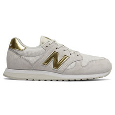 New Balance 520 Womens Casual Shoes White/Gold US 7, White/Gold, rebel_hi-res