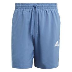 adidas Mens 3-Stripe Chelsea Shorts Blue XS, Blue, rebel_hi-res