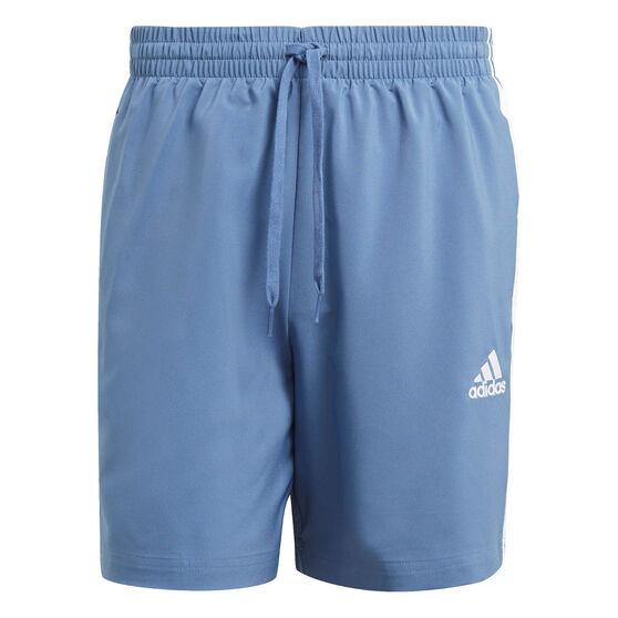 adidas Mens 3-Stripe Chelsea Shorts, Blue, rebel_hi-res