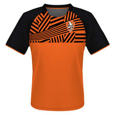 Brisbane Roar Mens Supporter Training Tee Orange S, Orange, rebel_hi-res