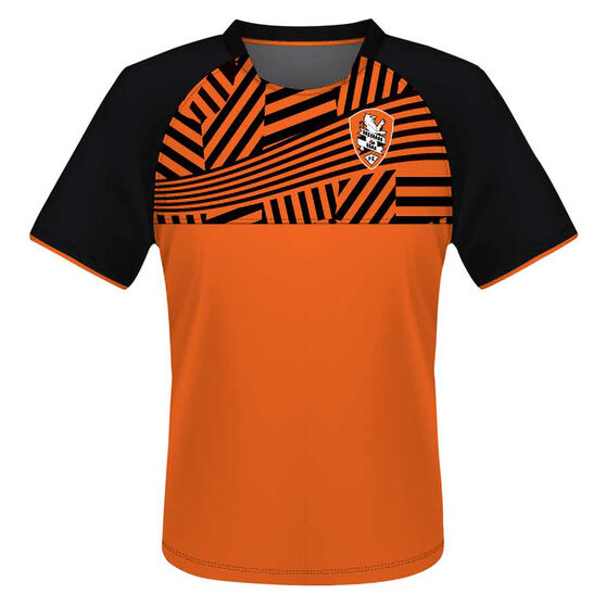 Brisbane Roar Mens Supporter Training Tee, Orange, rebel_hi-res