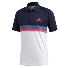 adidas Mens Colourblock Club Polo Navy S, Navy, rebel_hi-res