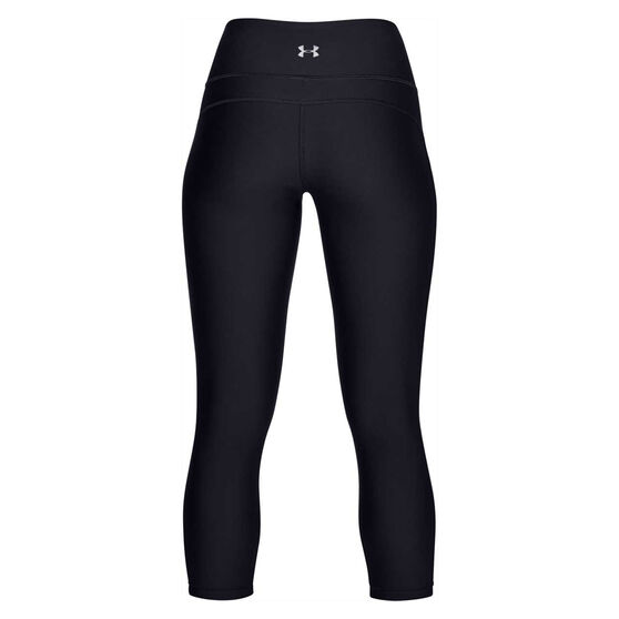 Under Armour Womens HeatGear Armour Ankle Crop Branded Tights, Black, rebel_hi-res