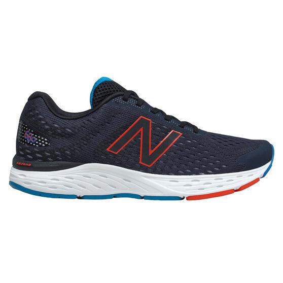 New Balance 680 4E Mens Running Shoes, Navy/Red, rebel_hi-res