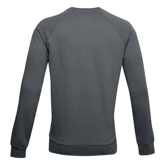 Under Armour Mens Volume Fleece Rival Cotton Sweatshirt, Grey, rebel_hi-res