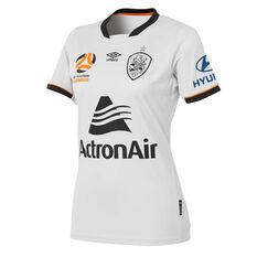 Brisbane Roar 2018 / 19 Womens Away Jersey Grey / Black 8, Grey / Black, rebel_hi-res