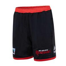 Melbourne Renegades 2019/20 Mens Training Shorts Black S, Black, rebel_hi-res