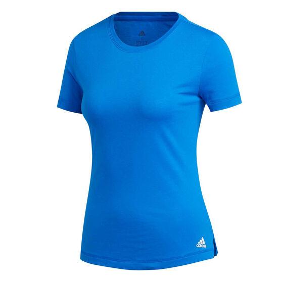 adidas Womens Prime Tee, Blue, rebel_hi-res