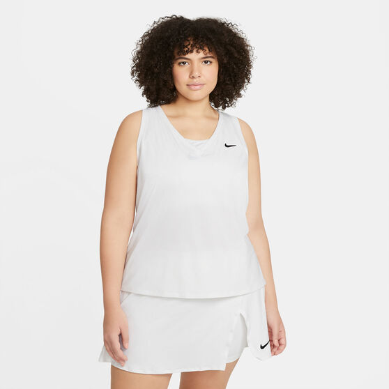 NikeCourt Womens Victory Tennis Tank, White, rebel_hi-res
