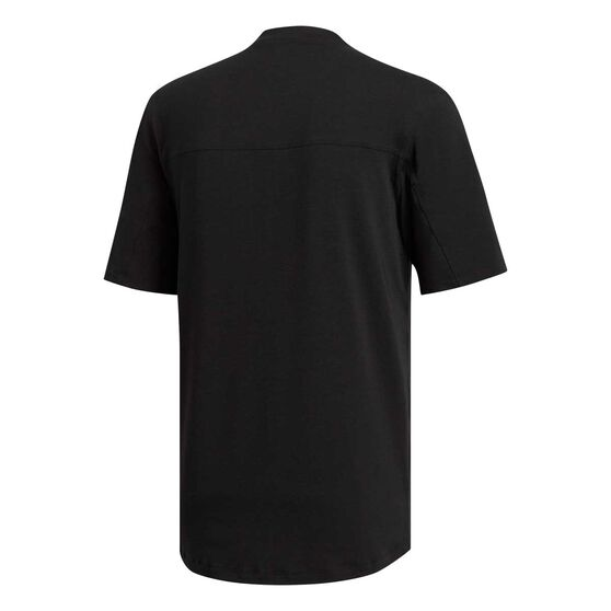 adidas Mens City Base Tee Black S, Black, rebel_hi-res