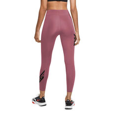 Nike Pro Womens Graphic 7/8 Tights, Purple, rebel_hi-res