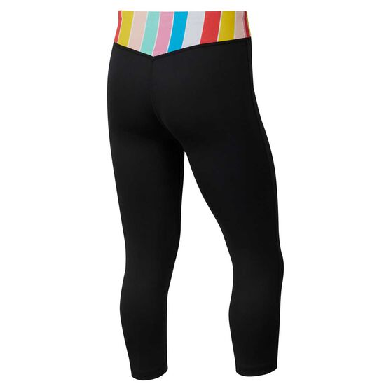 Nike Girls One Capri Tights, Black / Multi, rebel_hi-res