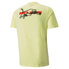 Puma Scouted Mens Basketball Tee Yellow S, Yellow, rebel_hi-res