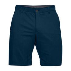 Under Armour Mens Showdown Golf Shorts Navy 30in, Navy, rebel_hi-res