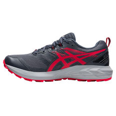 Asics GEL Sonoma 6 Mens Trail Running Shoes Grey/Red US 7, Grey/Red, rebel_hi-res
