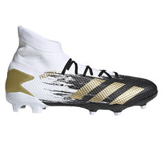 adidas Predator 20.3 Football Boots White/Gold US Mens 7 / Womens 8, White/Gold, rebel_hi-res