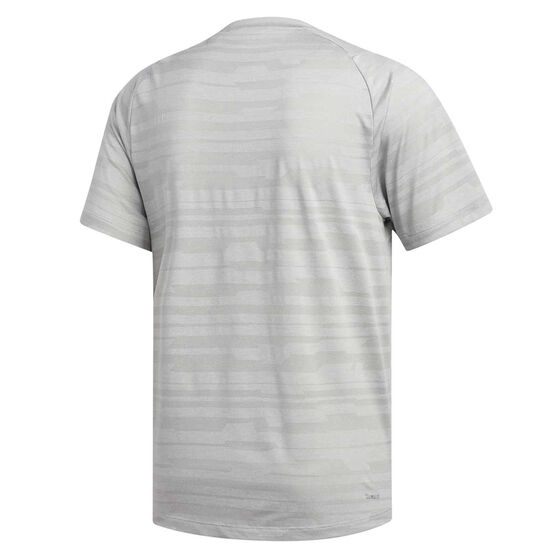 adidas Mens Freelift Engineered Heather Tee, Grey, rebel_hi-res