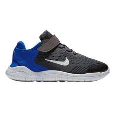 Nike Free RN 2018 Junior Boys Running Shoes Grey / Blue US 11, Grey / Blue, rebel_hi-res