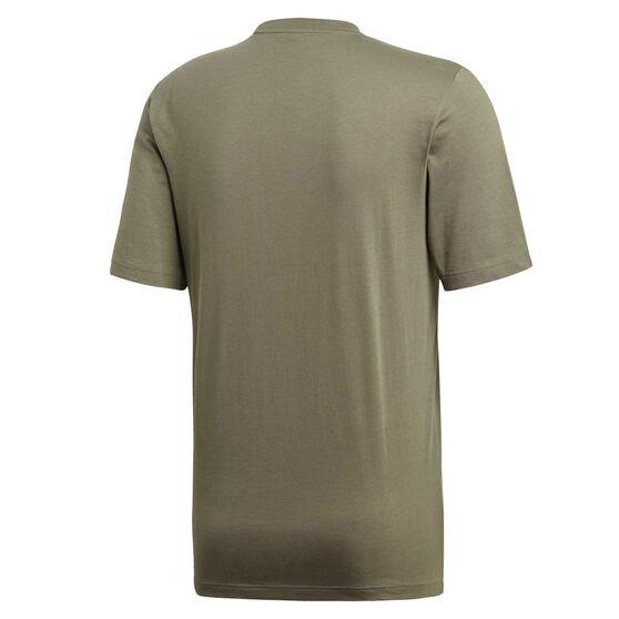 adidas Mens Essentials Linear Tee, Green, rebel_hi-res