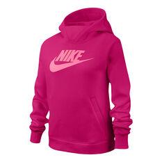 Nike Girls NSW PE Hoodie Pink XS, Pink, rebel_hi-res