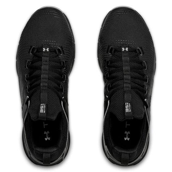Under Armour HOVR Rise 2 Mens Training Shoes, Black/Grey, rebel_hi-res