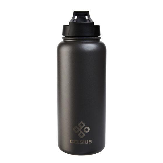 Celsius Victory 950ml Insulated Drink Bottle Black, Black, rebel_hi-res