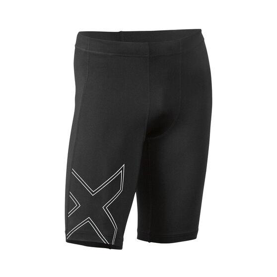 2XU Mens Aspire Compression Shorts, Black, rebel_hi-res